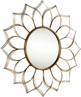 Cyan 09038 Blooming Beauty Aged Gold Wall Mounted Mirror