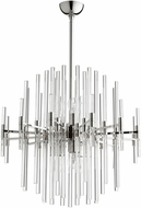 Cyan 09254 Quebec Contemporary Polished Nickel 26 Hanging Light