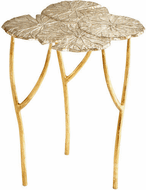 Cyan 09281 Ulla Contemporary Silver and Gold Table