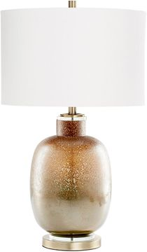 Cyan 09286 August Night Contemporary Lunar Brown Table Lamp