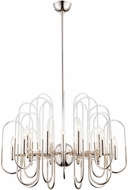 Cyan 09689 Champ-Elysees Contemporary Polished Nickel Ceiling Chandelier