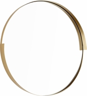 Cyan 10515 Gilded Band Contemporary Gold Wall Mounted Mirror