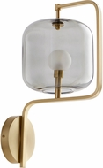 Cyan 10551 Isotope Modern Aged Brass L.E.D. Wall Sconce