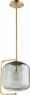 Cyan 10552 Isotope Contemporary Aged Brass L.E.D. Mini Hanging Light
