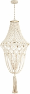 Cyan 10607 Ambiante Modern Antique French White Pendant Hanging Light