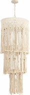 Cyan 10608 Luminico Contemporary Antique French White Hanging Light Fixture