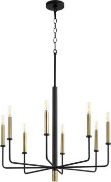Cyan 10967 Apollo Contemporary Noir and Aged Brass 27 Chandelier Light