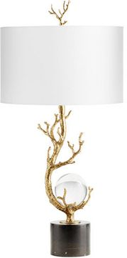 Cyan 10982 Autumnus Contemporary Gold Leaf Lighting Table Lamp