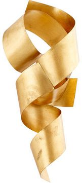 Cyan 10987 Ribbons Contemporary Gold Leaf Wall Decor