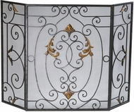 Cyan Design 01351 French Traditional Rust with Gold Accents Fireplace Screen
