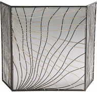 Cyan Design 02447 Finley Silver and Black Fireplace Screen