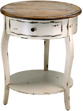 Cyan Design 02469 Abelard Rustic Distressed White and Gray Table