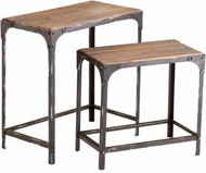 Cyan Design 04866 Winslow Country Raw Iron and Natural Wood Table