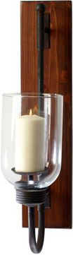 Cyan Design 04938 Sydney Raw Iron and Natural Wood Candle Holder