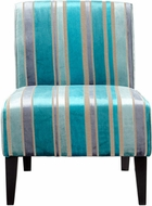 Cyan Design 05267 Ms. Stripy Blu Turquoise Blue Chair