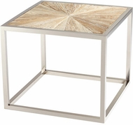 Cyan Design 06550 Aspen Contemporary Black Forest Grove and Chrome Table