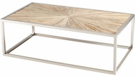 Cyan Design 06551 Aspen Contemporary Black Forest Grove and Chrome Coffee Table