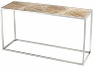 Cyan Design 06552 Aspen Contemporary Black Forest Grove and Chrome Table