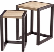 Cyan Design 06792 Becket Modern Oak Veneer and Black Veneer Tables
