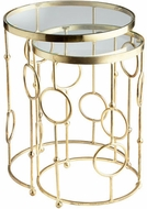 Cyan Design 06999 Perseus Modern Brass Table