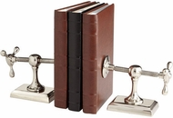 Cyan Design 07034 Hot and Cold Contemporary Nickel Bookends