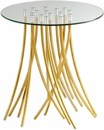 Cyan Design 08580 Tuffoli Modern Satin Brass Table