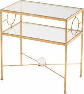 Cyan Design 08832 Auric Orbit Contemporary Gold Leaf Table