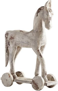 Cyan Design 08965 Carry On Contemporary Antique White Sculpture