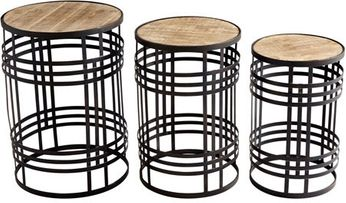 Cyan Design 09042 Banded About Contemporary Brown and Ebony Tables