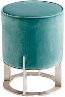 Cyan Design 09594 Danato Contemporary Brushed Stainless Steel Ottoman