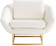 Cyan Design 09596 Shiva Contemporary Brushed Brass Chair