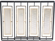Cyan Design 10222 Ludgate Contemporary Black and Gold Fireplace Screen