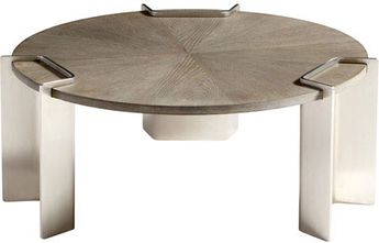Cyan Design 10226 Arca Modern Weathered Oak and Stainless Steel Table