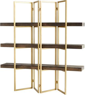 Cyan Design 10763 Marsina Contemporary Gold and Grey Etagere