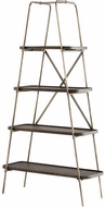Cyan Design 10773 Fortress Contemporary Raw Iron and Grey Etagere
