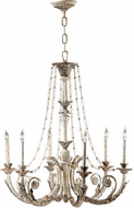 Cyan 6491-6-28 Abelle Traditional Parisian White Chandelier Lighting