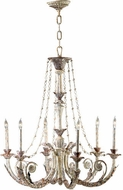 Cyan Design 6491-6-28 Abelle Traditional Parisian White Chandelier Light