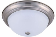 Cyber Tech C23322-NS-LED Stepdown Nickel Satin LED 15  Opal Lens Flush Mount Lighting