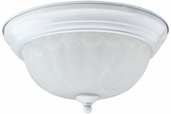 Cyber Tech C26222-WH-LED Stepdown White LED Alabaster Glass Flush Mount Light Fixture