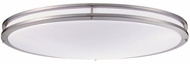 Cyber Tech C35SAT-NS-LED Saturn Nickel Satin LED Oval Flush Mount Lighting Fixture