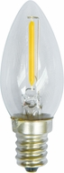 Cyber Tech LB1NLR-WW-2PK 1 Watt LED E12 Nightlight Lamp Warm White Bulb - Pack of 2