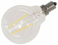 Cyber Tech LB2CG16-WW 2 Watt LED Clear G16 Globe Filament Bulb