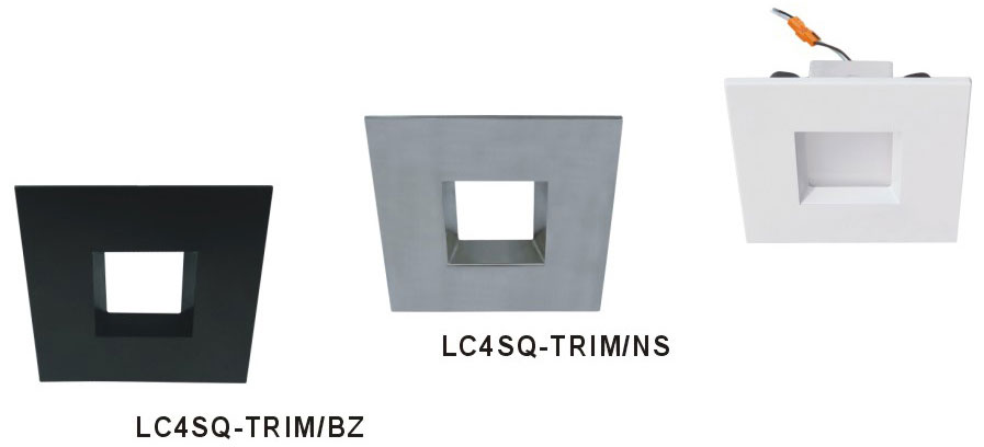 cyber tech lc4sq trim 4 square recessed lighting trim cyb lc4sq trim