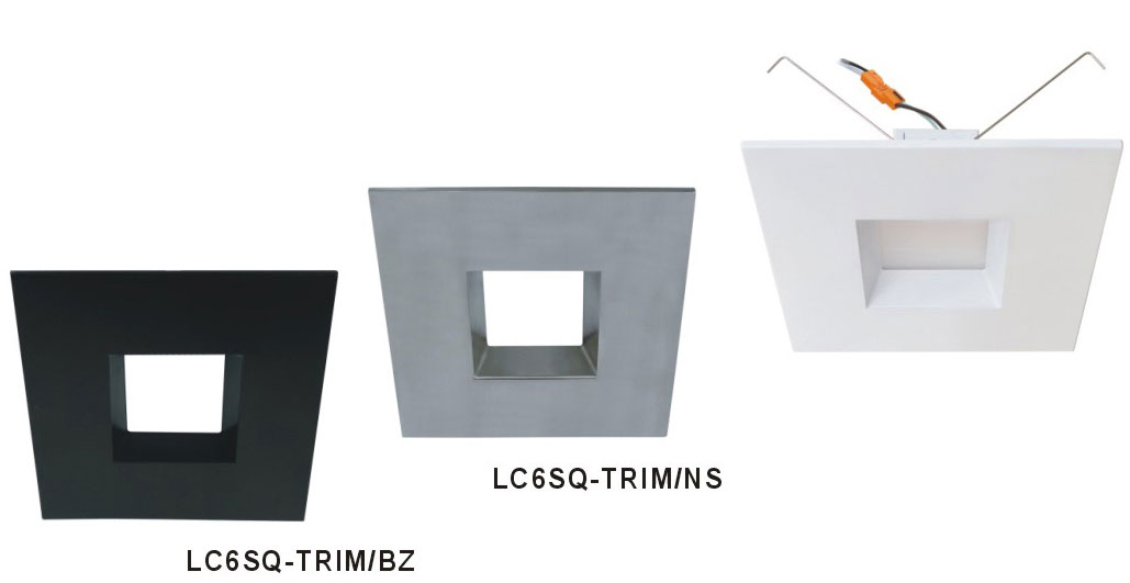 cyber tech lc6sq trim 6 square trim for recessed lighting cyb