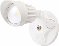 Cyber Tech LF10H1-WH-WW Contemporary White LED Outdoor Single Head Home Security Lighting