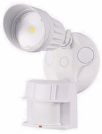 Cyber Tech LF10MH1-WH/DL Contemporary White LED Exterior Security Light w/Motion Sensor