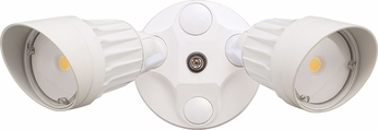 Cyber Tech LF20H2-WH-DL Modern White LED Exterior Dual Head Residential Security Lighting