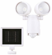 Cyber Tech LF6MH2-SLR-WH/DL Contemporary White LED Exterior Solar Security Light
