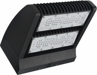 Cyber Tech LWP602RW-850 Contemporary Black LED Exterior Double Head Rotating Under Counter Light