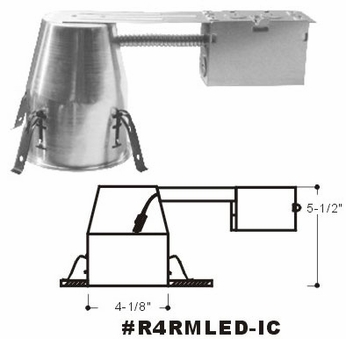 Cyber Tech R4RMLED-IC 4 Remodel Can IC/Air Tight